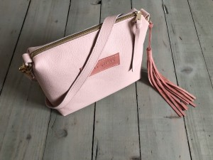 Mini Single Leather Bag Pale Pink + Warm Ready to Go!