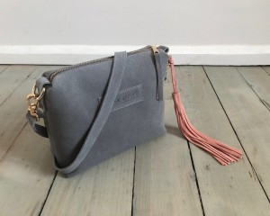 Mini Single Leather Grey Suede Ready to Go!