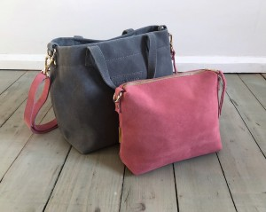 Nordic Basket Hardy Mini Grey + Rose Suede Ready to Go!