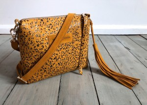 Mini Single Leather Bag Mustard Spots