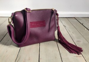 Mini Single Leather Bag Violet Plum Ready to Go!