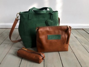 Nordic Basket Hardy Mini Ranch Brown + Dark Pastel Green Suede