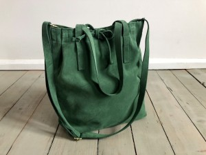 Mellow Bag II Green Suede