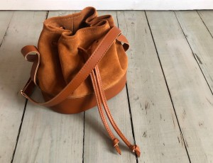 Mini Bucket Bag Armani Leather + Deer Suede