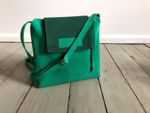 Single Clap Leather Bag Elf Suede + Green Nubuck Ready to Go!