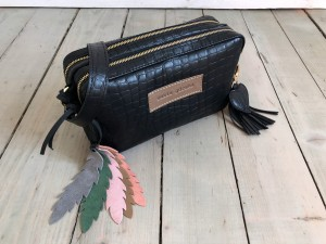 Nerka Nerkotorebka Black Croco + Mat Brown + Feathers