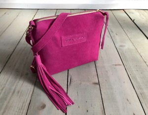 Mini Single Leather Bag Fuchsia Suede