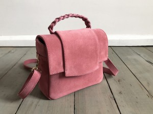 Mini Classic Clap Bag Suede Rose