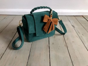 Mini Classic Clap Bag Emerald Green Suede Ready to Go!