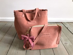Nordic Basket Hardy Mini Warm Pink Suede Ready to Go!