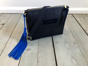 Mini Single Croco Navy Blue Ready to Go!
