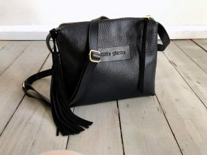 Mini Single Leather Black Ready to Go!