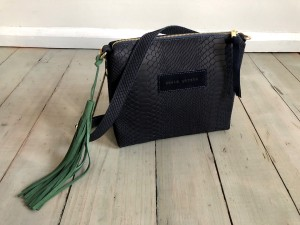 Mini Single Croco Navy Blue + Green Ready to Go!
