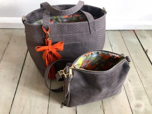 Basket Hardy Mini Grey Croco + Grey Suede Ready to Go!