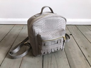 Mini BackPack Wild Light Grey Croco Nubuck