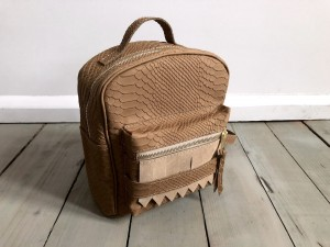 Mini BackPack Wild Beige Nubuck Croco