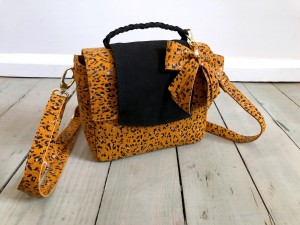 Mini Classic Clap Bag Mustard Dots + Black Suede Ready to Go! II