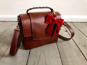 Mini Classic Clap Bag Mont Blanc Dark + Red Ready to Go!