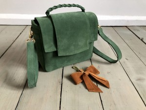 Mini Classic Clap Bag Green Suede Ready to Go!