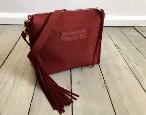 Mini Single Leather Bag Nubuck Wine Ready to Go!