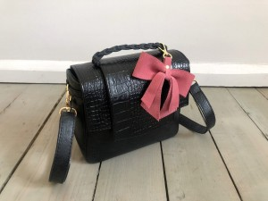 Mini Classic Clap Bag Black Croco Ready to Go!