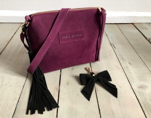 Mini Single Leather Bag Plum Suede Ready to Go!