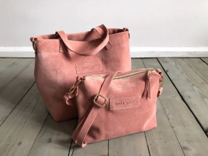 Nordic Basket Hardy Mini Warm Pink Suede