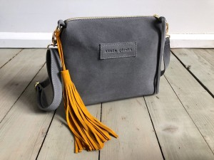 Mini Single Leather Grey + Mustard Suede Ready to Go!