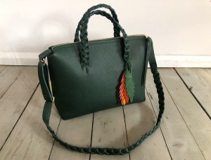Bingle Bag Braided Straps Dark Green