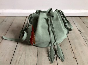 Little Bucket Olive Suede