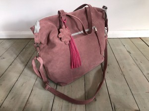 Simple Large Bag BrownRose Suede