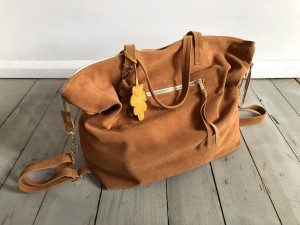 Simple Large Bag Deer Suede