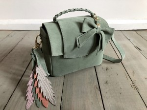 Mini Classic Clap Bag Suede Light Olive