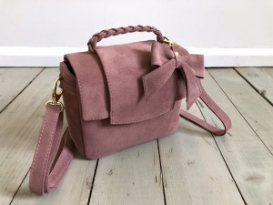 Mini Classic Clap Bag Suede BrownRose