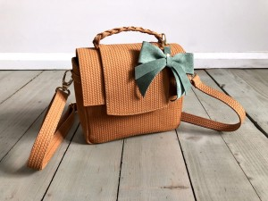 Mini Classic Clap Bag Lazy Braided Nubuck
