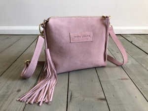 Mini Single Leather Bag Dirty Pink Suede