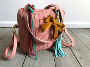 Braided Mini Square Bag Warm Pink Sue