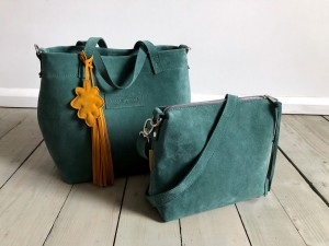 Basket Hardy Mini Emerald Suede