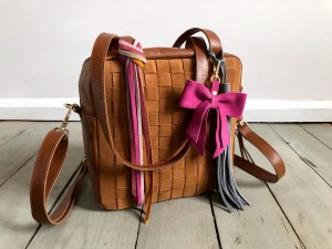 Braided Mini Square Bag Ranch Brown + Deer Suede