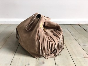 Nordic Sack Country Fringe Beige Velour