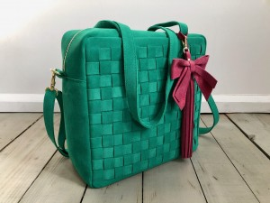Braided Big Square Bag Elf Suede Ready to Go! II