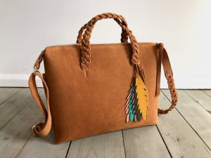 Bingle Bag Braided Straps Deer Suede