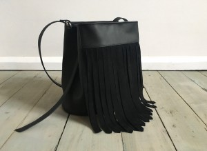 Bucket Wild Fringes Bag Black