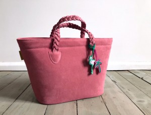 Beach Basket Leather Bag Rose