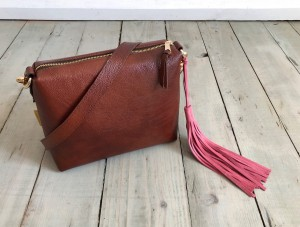 Mini Single Leather Bag Mont Blanc Dark + Rose Suede