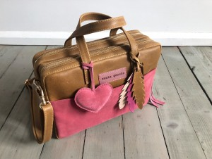 Torba Git Vintage Date + Rose Suede + Heart + Feathers