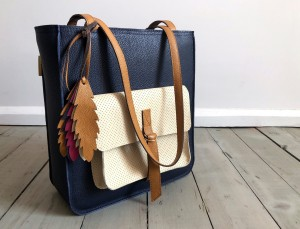 Perfect Vintage + Dark Navy Blue + Ecru + Caramel + Feathers