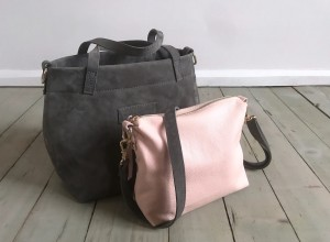 Nordic Basket Hardy Mini Grey + Pale Pink Plus