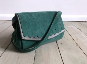 Halle Wild Fringes Emerald + Grey
