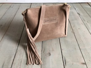 Mini Single Leather Bag Beige Suede Ready to Go!